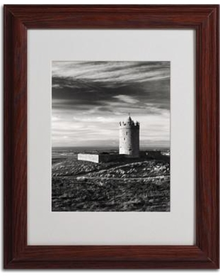 """Trademark Art """"Doonagore Castle Ireland"""" by Pierre Leclerc Framed Photographic Print PL0027- Size: 14"""" H x 11"""" W x 0.5"""" D Frame: Brown - Beveled"""
