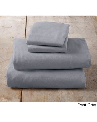 Home Fashion Designs Nordic Collection Extra Soft 100 Cotton Flannel Deep Pocket Bed Sheet Set (Frost Grey - Full)