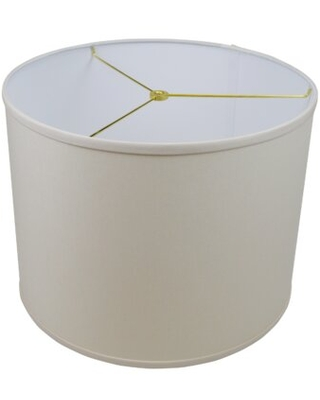 "12"" H x 16"" W Drum Lamp Shade - (Spider Attachment) Fenchel Shades Color: Ivory"