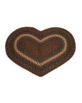 Mr.MJs Braided Heart Kitchen Mat AG-6410 Color: Dark Brown