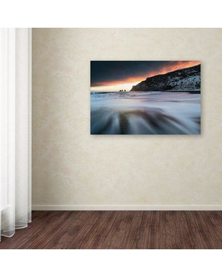 "Trademark Fine Art 'Hands of the Ocean' Photographic Print on Canvas RV00109-C Size: 30"" H x 47"" W x 2"" D"