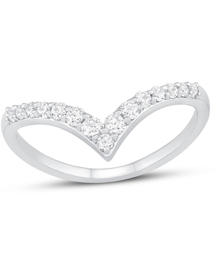 Diamond Ring 1/3 ct tw Round-cut Sterling Silver