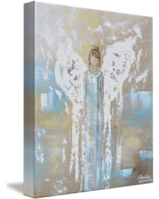 """Red Barrel Studio 'Angel Guiding Love' Acrylic Painting Print on Wrapped Canvas RDBA2568 Size: 44"""" H x 36"""" W"""