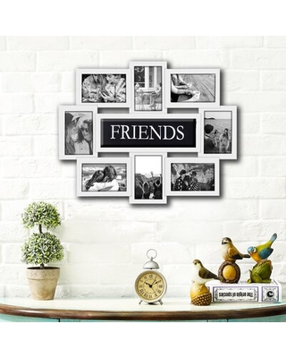 Discover Deals On Geffrey Family Selfie Gallery Collage Wall Hanging Picture Frame Red Barrel Studio Color White