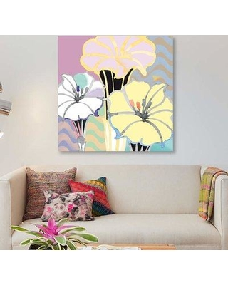 "East Urban Home 'Beauty in Bloom II Detail' Graphic Art Print on Canvas EBHR4132 Size: 26"" H x 26"" W x 0.75"" D"