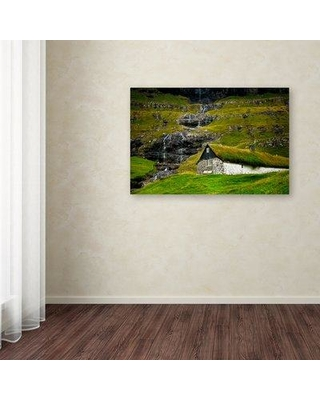 """Ebern Designs 'We Used to Wait' Photographic Print on Wrapped Canvas EBND7891 Size: 22"""" H x 32"""" W"""