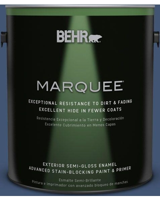 BEHR MARQUEE 1 gal. Home Decorators Collection #hdc-CL-26 Champlain Blue Semi-Gloss Enamel Exterior Paint & Primer