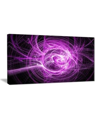 """East Urban Home 'Wisps of Smoke Purple in Black' Graphic Art Print on Canvas EAAE8263 Size: 40 """" W x 20 """" H"""