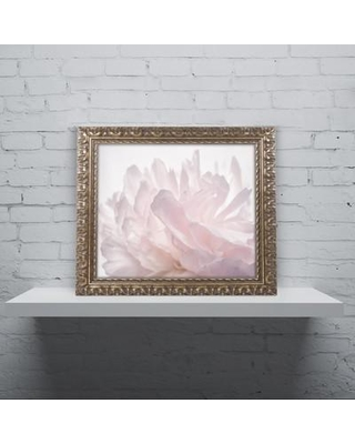 """House of Hampton 'Pink Peony Petals V' Framed Photographic Print HOHP9916 Size: 16"""" H x 20"""" W x 0.5"""" D"""