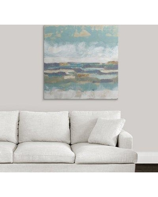 """Great Big Canvas 'Letters from the Sea I' Jennifer Goldberger Painting Print 2275456_ Size: 35"""" H x 35"""" W x 1.5"""" D Format: Canvas"""