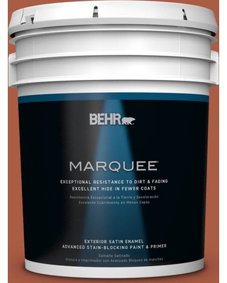 BEHR MARQUEE 5 gal. #M190-7 Colorful Leaves Satin Enamel Exterior Paint and Primer in One