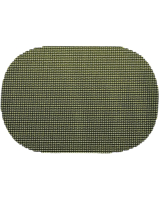 Kale Green Fishnet Oval Placemat (Set of 12)