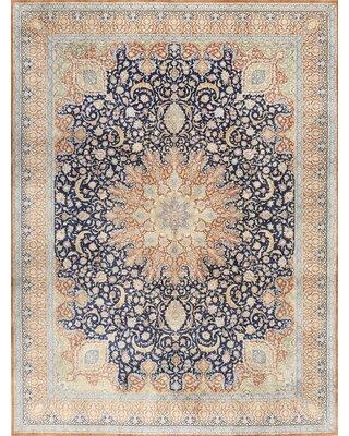 Bloomsbury Market Turan Traditional Light Blue/Light Green Area Rug X112036661 Rug Size: Round 5'
