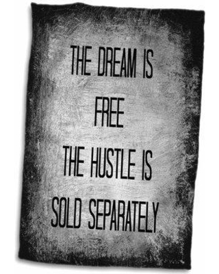 Symple Stuff Grimmett Dream Is Free Hustle Sold Separately Letters on and Hand Towel W000387805