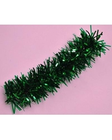 "Queens of Christmas Garland Stuffed with PVC and Mylar WINL1550 Size: 3"", Color: Green"