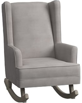 Modern Wingback Convertible Rocker, Performance Everyday Velvet Platinum
