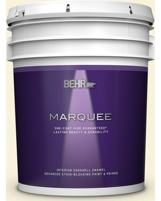 BEHR MARQUEE 5 gal. #W-B-310 Glow Eggshell Enamel Interior Paint and Primer in One