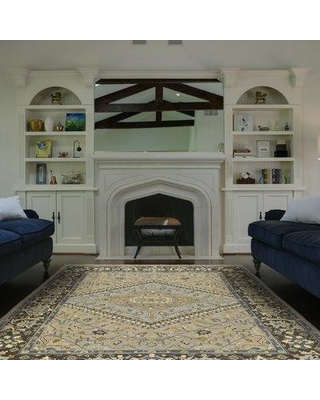 """Astoria Grand Fitzroy Hand-Knotted Wool Smoke/Gray Area Rug ASTG7225 Rug Size: Rectangle 5'6"""" x 8'6"""""""