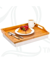 Soft White 76101 Serving Tray Style No Rossie Home Lap Tray with Detachable Pillow