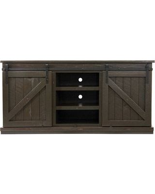 "Dairine Solid Wood TV Stand for TVs up to 78"" Gracie Oaks Color: Driftwood"