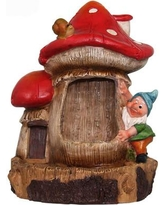 Sintechno Inc Resin Cute Gnome and Snail Sculptural Fountain SNF91149-1