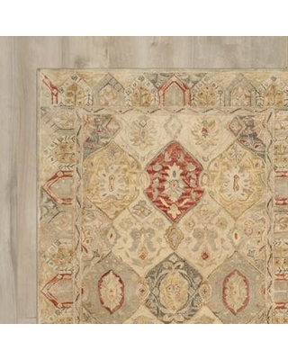 Three Posts Ashville Hand-Tufted Oriental Area Rug Rug Size: Square 6'