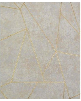 """York Wallcoverings Nazca 32.8' L x 20.8"""" W Metallic/Foiled Wallpaper Roll NW350 Color: Neutral/Gold"""