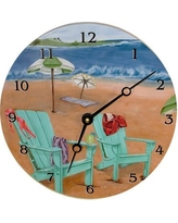 "Lexington Studios Travel and Leisure 18"" Skinny Dipping Wall Clock 23051-LR"