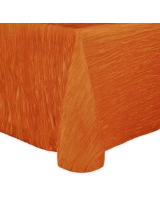 Ultimate Textile Delano 70-Inch x 104-Inch Oblong Tablecloth in Orange