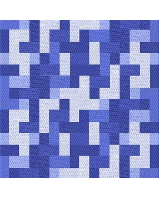 East Urban Home Pinero Abstract Wool Blue Area Rug X113421764 Rug Size: Square 4'