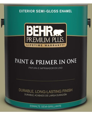 BEHR Premium Plus 1 gal. #S350-4 Sustainable Semi-Gloss Enamel Exterior Paint and Primer in One