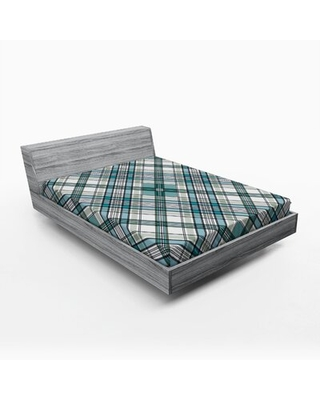 Plaid Fitted Sheet East Urban Home Size: Queen