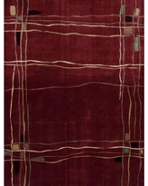 Nourison Overstock Parallels Red 2 ft. x 4 ft. Area Rug