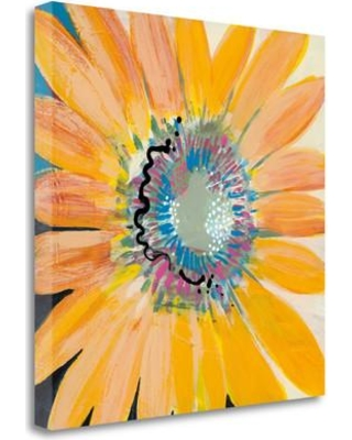 "Tangletown Fine Art 'Sunshine Flower IV' Print on Wrapped Canvas CABLP253-2020c Size: 20"" H x 20"" W"