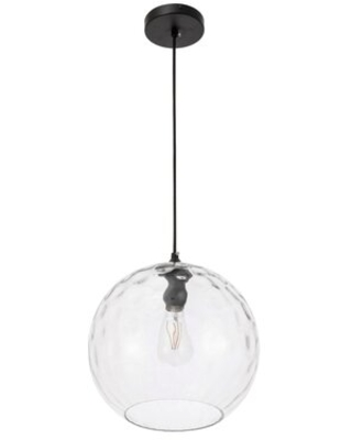 """Zulma 1 - Light Single Globe Pendant with Glass Accents Wrought Studio™ Size: 8.8"""" H x 7.9"""" W x 7.9"""" D"""
