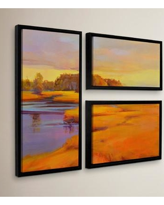 Get The Deal 64 Off Red Barrel Studio Autumn Marsh 3 Piece Framed Painting Print On Canvas Set Sect5624