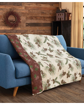 Duke Imports, Inc. Throws PRINTED - Forest Pines Quilted Throw
