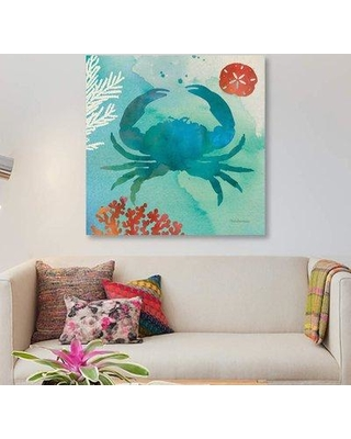 "East Urban Home 'Under The Sea III' Graphic Art Print on Canvas ETRB5769 Size: 18"" H x 18"" W x 0.75"" D"