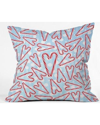 """East Urban Home Holiday Love And Polka Dots Indoor/Outdoor Throw Pillow EBHU5620 Size: 16"""" H x 16"""" W"""