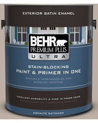 BEHR ULTRA 1 gal. #N210-3 Barista Satin Enamel Exterior Paint and Primer in One