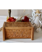 Shop For American Flag And Bald Eagle Cremation Wooden Urn Box For Human Ashes