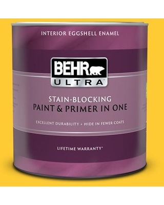 BEHR ULTRA 1 qt. #S-G-360 Bright Star Eggshell Enamel Interior Paint and Primer in One