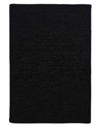 Simple Home Solid Rug, Size 2'W x 8'L in Black by Colonial Mills