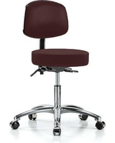 "Perch Chairs & Stools Office Chair PCHS1121 Size: 37.5"" H x 24"" W x 24"" D Color: Burgundy Vinyl"