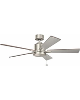 "52"" Bowen Pull Chain Energy Star Brushed Nickel Ceiling Fan"