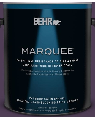 BEHR MARQUEE 1 gal. #S-H-680 Purple Bloom Satin Enamel Exterior Paint and Primer in One