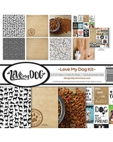 Reminisce (REMBC) Love My Dog Scrapbook Collection Kit, Multi Color Palette