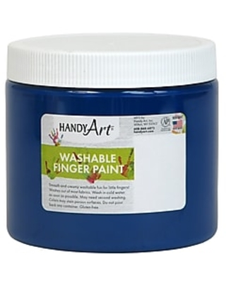 Handy Art Washable Finger Paint, Blue, 16 oz (RPC241030)