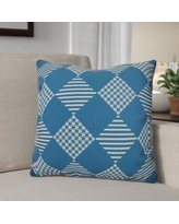 """The Holiday Aisle Decorative Geometric Throw Pillow HLDY1534 Size: 20"""" H x 20"""" W, Color: Teal"""