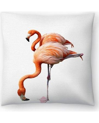 "East Urban Home Nuada Couple of Flamingos Throw Pillow EBIC1837 Size: 18"" x 18"""